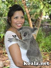 Donna Vitan and her koala Serenity, Lone Pine Koala Sanctuary