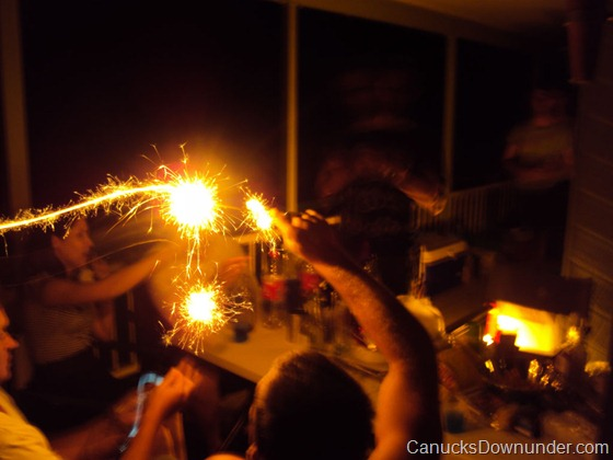 New Year's Eve sparkler